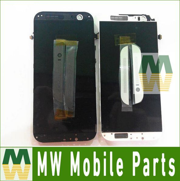 Black White Color For HTC One M8 1PC /Lot LCD Display +Touch Screen Digitizer With Frame Replacement  Free Shipping<br><br>Aliexpress