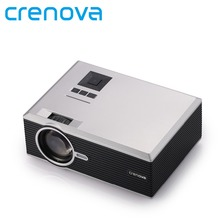 Crenova XPE470 Mini Projector 130'' Support HD 1080P Video via SD card HDMI VGA USB Drive for iPad iPhone for Home Movie(China)