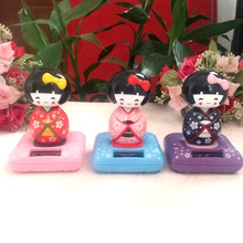 Wholesale Price 6 Pieces Per Lot Dancing Under Full Light  No Battery  Novelty Home Decoration Solar Powered Japanese Bayaderes