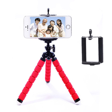Universal Cell phone holder Portable Adjustable Flexible Tripod Stand with Clip For Mobile Phone Digital Camera Mount Holder