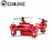 Eachine E10 Mini Headless Mode 2.4G 4CH 6 Axle LED RC Quadcopter RTF With One Key Return Function(China)