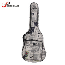"40"" Guitar Bag 600D Water-resistant Gig Bag Oxford Cloth Newspaper Style Double Stitched Padded Straps Guitar Carrying Case(China)"