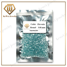 Light Aquamarine Blue CZ Stone  AAAAA 1.0mm-2.5mm Light Blue Cubic Zirconia Stone Synthetic Gemstone