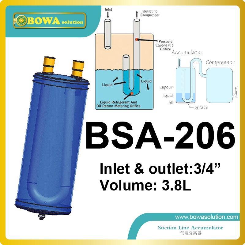 3.8L suction line accumulator  in heat pump VRV air conditioner or seafood machine<br><br>Aliexpress