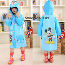 Raincoat for Baby Children Kids Girl boys rain coat Cartoon rainwear Waterproof Student Rainsuit  Poncho Child Raincoat YY250