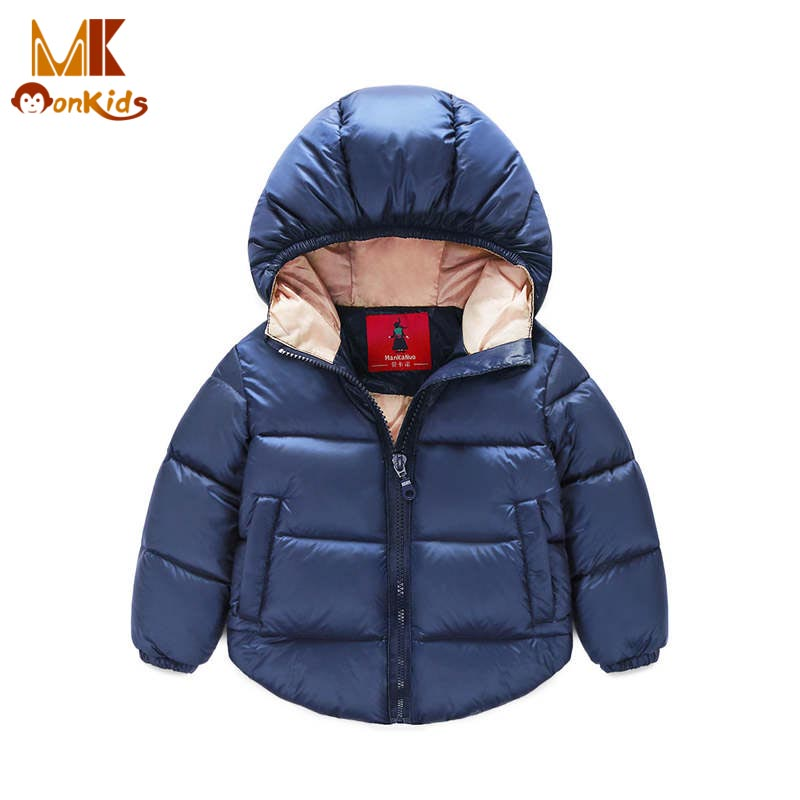 Monkids Baby Clothes Boy Jacket Down Jacket for Girls Children Clothing Outerwear Coat Boy Coat Baby Girl Jacket Warm HoodedОдежда и ак�е��уары<br><br><br>Aliexpress