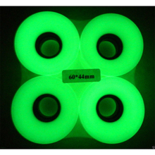 1 SET(4 PCS) Blank Pro Glow in dark PU Wheels  60 X45 mm 78A Fiits 22 Inch Board Skateboard Skate Board Mini Longboard