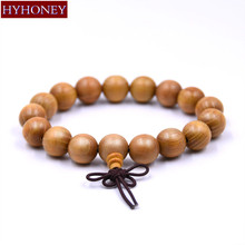 Buy HYHONEY 12mm beads Natural Sandalwood Buddhist Buddha Meditation Wood Prayer Bead Mala Bracelet Men Jewelry for $1.48 in AliExpress store