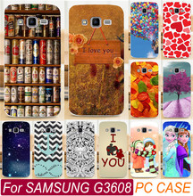 Colorful Love You Beer Moon Balloon PC Mobile Phone Case For Samsung Galaxy Core Prime G3608 G3606 G360 3608 3606 Cover Shell