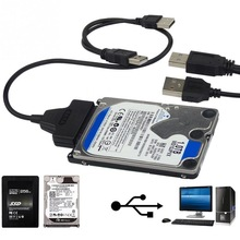 "Computer Hard Driver Connection Cables 2.5"" 22P 2.0 USB to SATA Cable Serial ATA Adapter For HDD/SSD Laptop Hard Drive(China)"