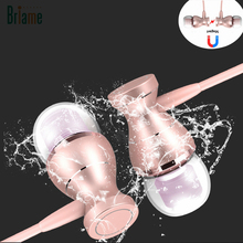 Briame Metal In-Ear Earphones Headset Magnetic Clarity Stereo Sound Sport Headphones With Microphone for iPhone 5 5S 6 6S Xiaomi(China)