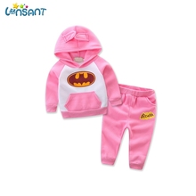 LONSANT Baby Girl Clothes Winter Batman Hoodies Pants Thicken WarmClothes Baby Born Set  Baby Boy Kids Clothes Dropshipping