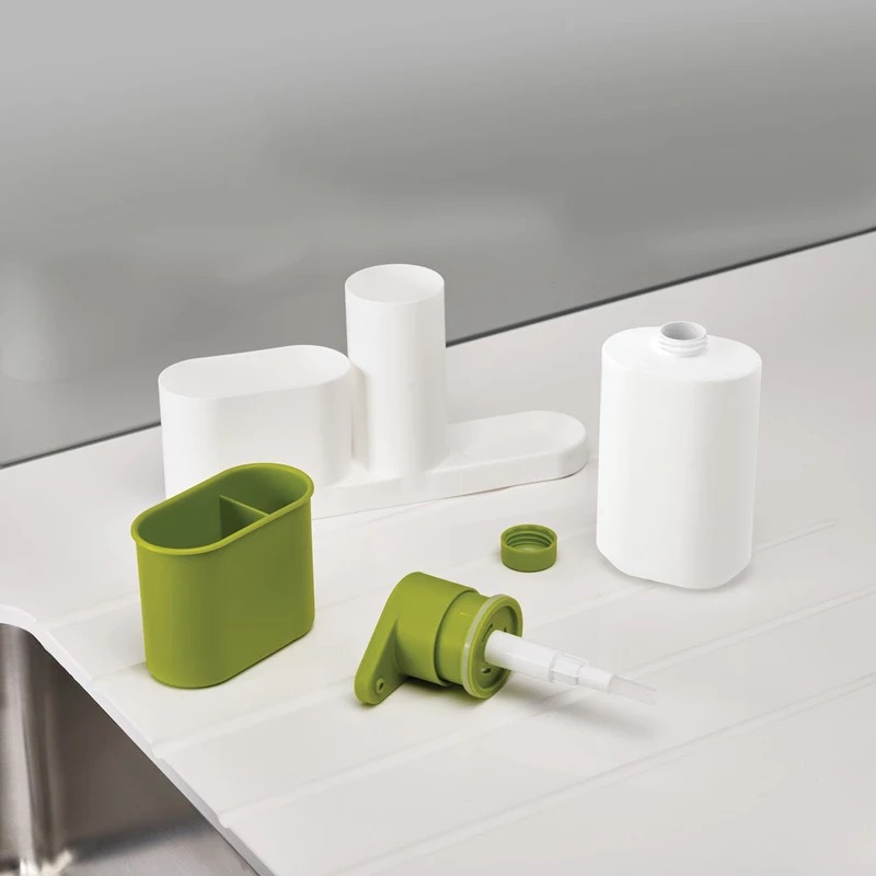 ASFULL Multifunctional Washing Sponge Storage Sink Detergent Soap Dispenser Storage Rack Hand Sanitizer for Bottle Kitchen use 9