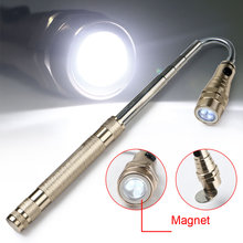 hot Flexible Flashlight Torch Lamp 3 LED 360 Degree LED Flashlight Magnetic Head Telescopic Pick Up Tool Torch Lamp Lantern