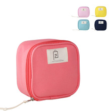 HAOCHU Candy Color Portable Digital Gadget Box Travel Cosmetic Case Small Storage Bag Coin Camera Pouch Girls Women Handbag