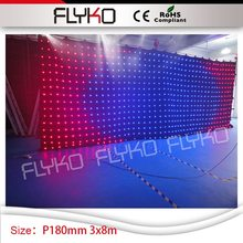 promotion 3m high*8m width led video curtain P18cm nightclub DJ led backdrops curtain wall