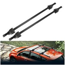 2x Universal Adjustable Black 120cm Car Roof Rock Cross Bar Luggage With Security Lock Luggage Carrier System 165LBS 4x4 MPV