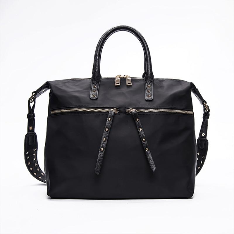 The new fashion nylon bag Oxford cloth black handbag shoulder Messenger bags large canvas bag on behalf of a hair top sale<br><br>Aliexpress