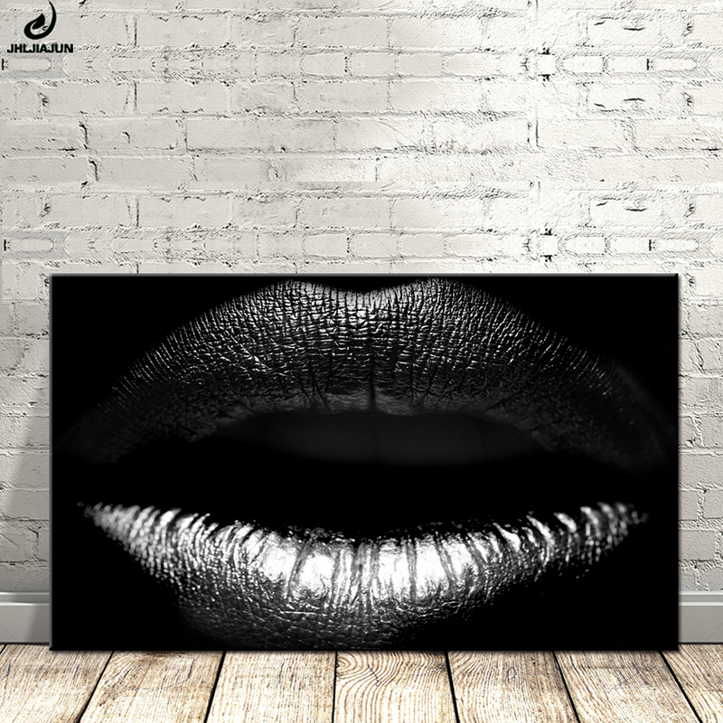 Close-up View Sexy Lips Wall Art Decoration Poster