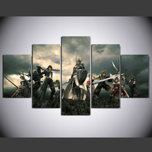 5 panel HD printed modular painting Warcraft canvas print art modern home decor wall art picture for living room F0778(China)