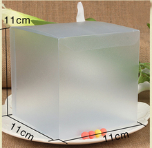 30pcs 11*11*11cm frosted plastic pvc box packing boxes for gifts/chocolate/candy/cosmetic/crafts square Matte pvc Box