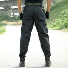 Free shipping Mens Combat MultiPockets Utility Casual Loose Long Full Length Cargo Work pants Trousers Black Camouflage pants