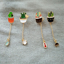 Free shipping new fashion The cactus brooch brooches restoring ancient ways is contracted green plants collar pin sets