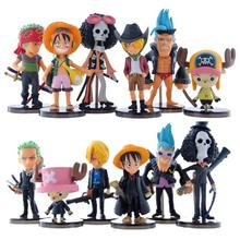 Hot sale Cute Mini One Piece Figure PVC Action Figures brinquedos Collection Figures toys Free Shipping(China)