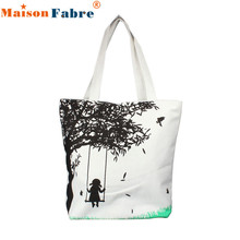 Hot Sale bolsa feminina women bag Girl On Swing Canvas Bag handbag Casual Women Messenger Shoulder Bag Handbags bolsos mujer