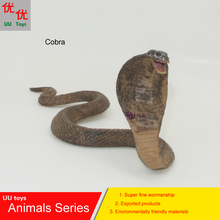 Hot toys:Big Cobra Snake Simulation model  Animals   kids  toys children educational props