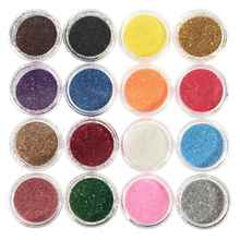 Hot Sale New 16 Mixed Colors Pigment Glitter Powder Mineral Spangle Eyeshadow Makeup 16pcs One Set Maquiagem(China)