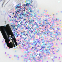2g/box Rainbow Iridescent Mixed Round Designs Fashion Nail Glitter Sequin Bead Nail Art Paillettes 3d Decorations Tips Y04(China)
