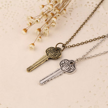 New Necklaces Pendants for men women drama movie Detective Sherlock Holmes key room 221B zinc alloy link chain jewelry(China)