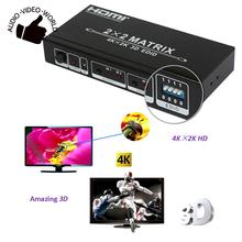 HDM-922E HDMI Matrix 2x2 Switch Splitter 2 Inputs 2 Outputs Support 4Kx2K 3D with EDID Control