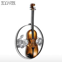 Tooarts Metal Wall Sculpture Violin Hanging Ornament Home Decor Wall Hangings Decor Music Instrument Craft Gift