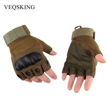 Men's Military Tactical Gloves Fingerless Hiking Hunting Gloves Outdoor Sport Gloves Cycling Moto Half Finger Gloves 3 Colors(China)