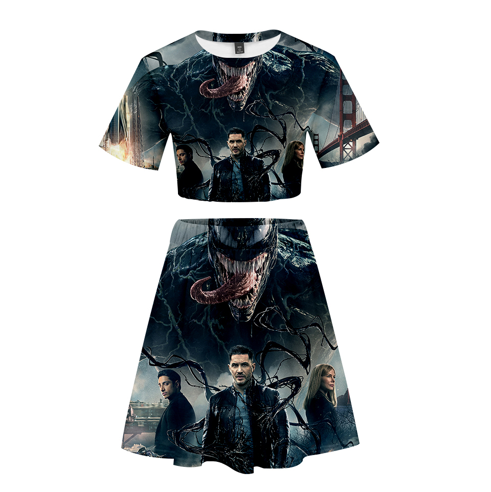 Spider man far from home 3D Short skirt suit Short Sleeve T-shirt and Short skirt suit Two Piece High Quality Casual New Sets