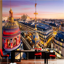 Free Shipping 3D France Paris Dream building mural bedroom lobby hotel living room restaurant KTV bar wallpaper mural