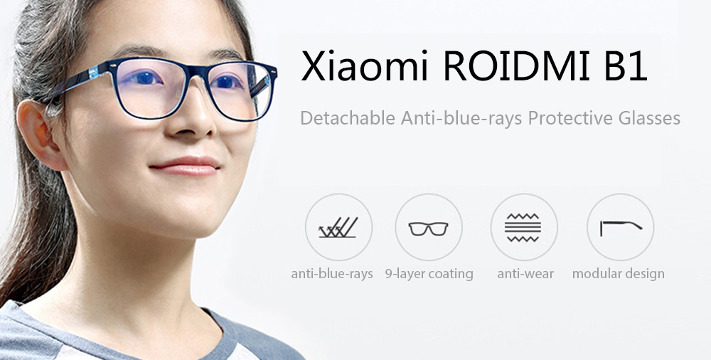 Xiaomi ROIDMI B1 Detachable Anti-blue-rays Protective Glasses Eye Protector For Man Woman Play Phone/PC
