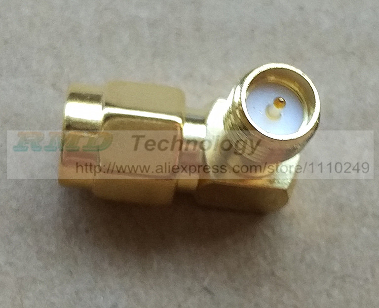1pcs SMA-KWE SMA RF Connector right angle Outside thread inner Hole Free shipping<br><br>Aliexpress