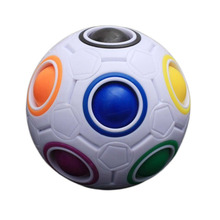 Hot! OCDAY Rainbow Football Creative Ball Children Kids Spherical Magic Cube Toy Learning And Education Puzzle Toys New Sale