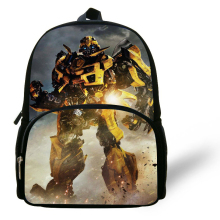 12-inch Little Boys Love Bumblebee Transformers Bag Kids Backpack Daily School Backpack Child Aged 1-6