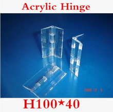 20PCS/LOT H100*40mm  Acrylic Hinge, Transparent Hinge, Plexiglass Hinge, organic glass hinge 100x40mm ,furniture accessory