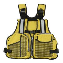 Adjustable 3 Colors Fly Fishing Vest Outdoor Waterpoor Safety Life Jacket Life Vest Fishing Clothes In Water Sports Swim