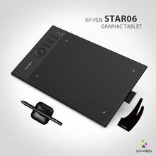 New XP-Pen Star06 Wireless 2.4G Graphics Drawing Tablet Painting Board with 8192 levels Battery-free Passive Stylu(China)
