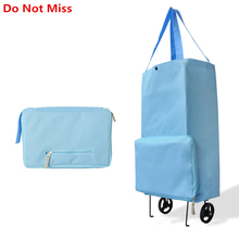 New Folding Portable Shopping Bag Shopping Buy Food Trolley Bag on Wheels Bag on Wheels Buy Vegetables Shopping Organizer Bag(China)
