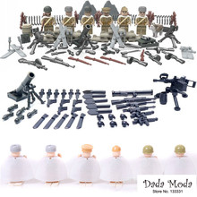 Free Shipping 6pcs per set world war II Russian military action figure ABS micro blocks D164