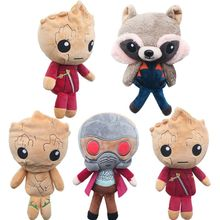 Original Movie DC Guardians of the Galaxy 2 Plush doll toy  Rocket Raccoon Star Lord 22cm Soft Plush Toys Dolls Girl gift
