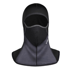 Bicycle Thermal Fleece Hat headset Winter warm Full Face Mask Neck Cap Cycling Windproof Dustproof Masks Black Color Breathable(China)