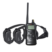 Ipets 900B-2 New 1000m remote control dog training collar for 2 dogs with LCD display & memory function/multi system